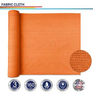 160GSM HDPE Orange Fabric Cloth