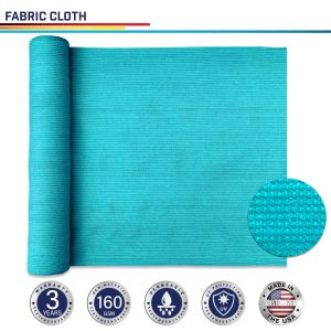 160GSM HDPE Turquoise Green Fabric Cloth
