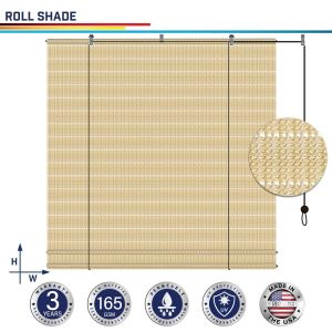 165GSM HDPE Beige Hollow Roller Shade