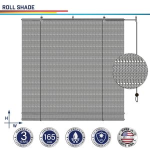 165GSM HDPE Gray Hollow Roller Shade