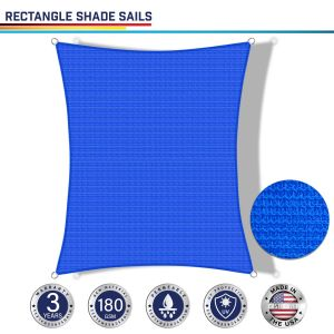 180GSM PE-Permeable No Grommet Curved Rectangle Sun Shade Sail
