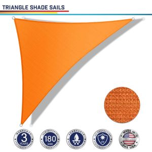 180GSM PE-Permeable No Grommet Curved Right Triangle Sun Shade Sail