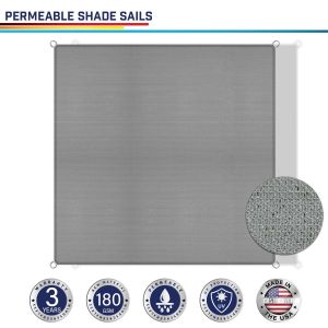180GSM PE-Permeable No Grommet Straight Rectangle Sun Shade Sail