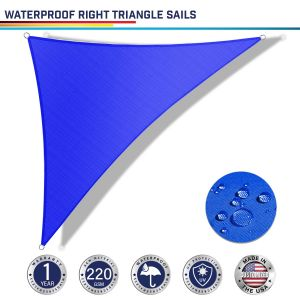 220GSM Vinyl-Waterproof No Grommet Curved Right Triangle Sun Shade Sail