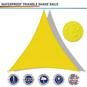 220GSM Vinyl-Waterproof No Grommet Curved Triangle Sun Shade Sail