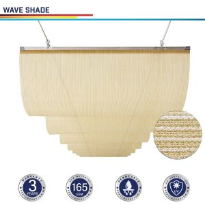 165GSM HDPE Beige Waving Shade