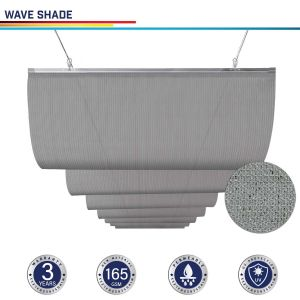 165GSM HDPE Light Gray Waving Shade