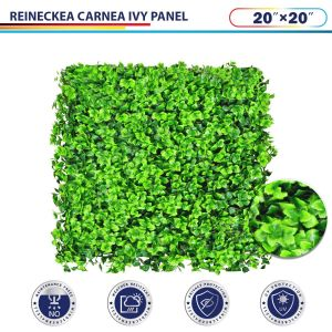 "Windscreen4less Artificial Faux Ivy Leaf Decorative Fence Screen 20"" x 20"" Reineckea carnea 30pcs"