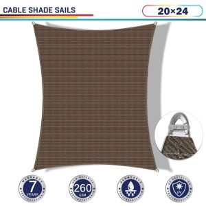 Cable PE-Permeable  Curved Rectangle Sun Shade Sail