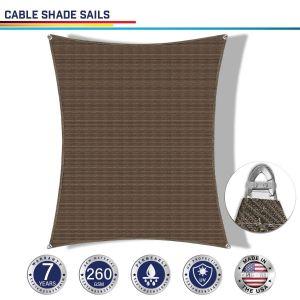 Cable PE-Permeable  Curved Rectangle Sun Shade Sail