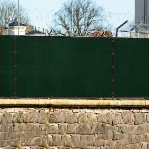 Real Scene Effect of 150GSM HDPE  Privacy Fence Screen