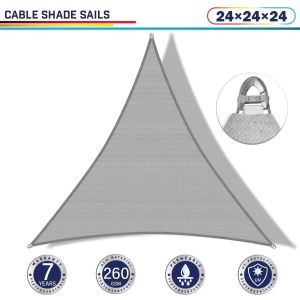 Cable PE-Permeable  Curved Triangle Sun Shade Sail