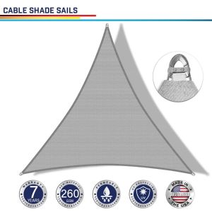 Cable PE-Permeable  Curved Triangle Sun Shade Sail