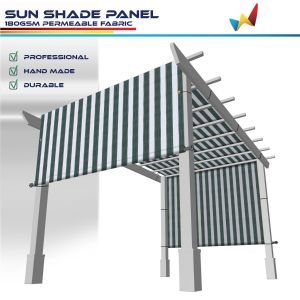 180GSM HDPE Green / White Strips Shade Panel