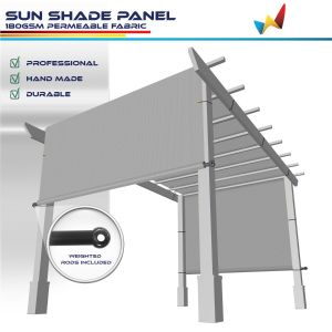 180GSM HDPE Light Gray Shade Panel
