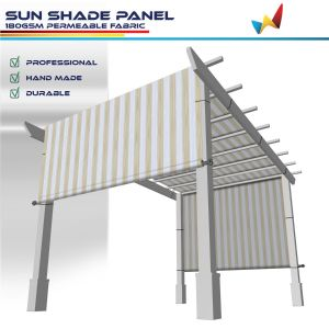 180GSM HDPE Beige / White Strips Shade Panel