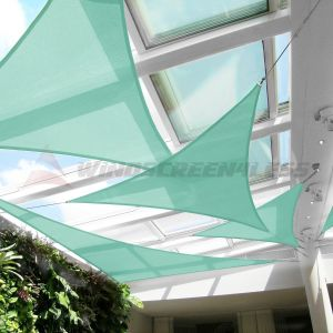 Real Scene Effect of 220GSM Vinyl-Waterproof No Grommet Curved Right Triangle Sun Shade Sail