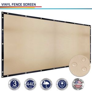 440GSM Vinyl Beige Privacy Fence Screen