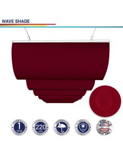 Windscreen4less Custom Waterproof Retractable Canopy Replacement Cover for Pergola Slide On Wire Shade Cover Awning for Gazebo Trellis Hot Tub Top Cover Patio Deck Yard Porch Wave Shade 95% UV Blockage 3-7ft W x 4-40ft L Red 220GSM (1 Year Warranty)