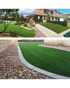Real Scene Effect of Windscreen4less 3.3' x 5' Artificial Grass Turf Realistic Fake Grass Turf Synthetic Pet Turf, Outdoor/Indoor Fake Grass Rug Astroturf for Dogs with Drainage Holes, Pile Height:35mm - Custom Sizes Available