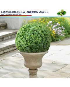 Real Scene Effect of 18 Inch Artificial Topiary Ball Faux Boxwood Plant for Indoor/Outdoor Garden Wedding Decor Home Decoration, Lechuguilla Green 1 Piece