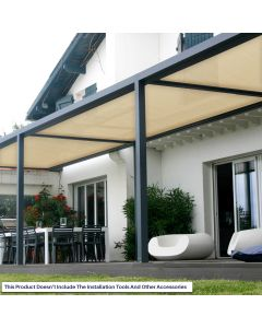 Real Scene Effect of Windscreen4less Custom Size 6-24ft x 1-300ft Sunblock Shade Cloth, 90% UV Block Beige 160GSM Shade Fabric Roll (3 Year Warranty)