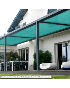 Real Scene Effect of Windscreen4less Custom Size 6-24ft x 1-300ft Sunblock Shade Cloth, 90% UV Block Turquoise Green 160GSM Shade Fabric Roll (3 Year Warranty)