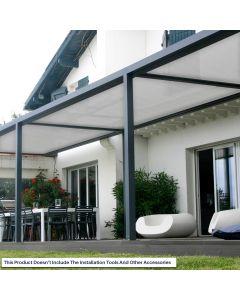 Real Scene Effect of Windscreen4less Custom Size 6-24ft x 1-300ft Sunblock Shade Cloth, 90% UV Block Light Gray 160GSM Shade Fabric Roll (3 Year Warranty)