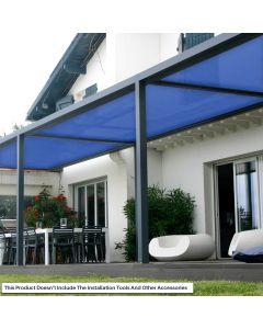 Real Scene Effect of Windscreen4less Custom Size 24-24ft x 1-300ft Sunblock Shade Cloth, 90% UV Block Blue 160GSM Shade Fabric Roll (3 Year Warranty)