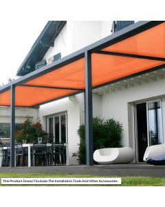 Real Scene Effect of Windscreen4less Custom Size 16-24ft x 1-300ft Sunblock Shade Cloth, 90% UV Block Orange 160GSM Shade Fabric Roll (3 Year Warranty)
