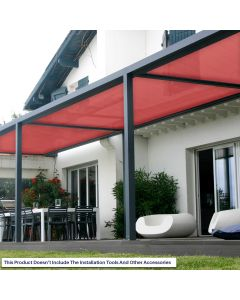 Real Scene Effect of Windscreen4less Custom Size 24-24ft x 1-300ft Sunblock Shade Cloth, 90% UV Block Red 160GSM Shade Fabric Roll (3 Year Warranty)