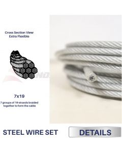 Real Scene Effect of Windscreen4less Shade Sail Wire Rope and 8 Pcs Clips, Vinyl Coated Wire Cable Galvanized Metal Clamp, 3/16-Inch x 15ft