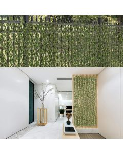 Real Scene Effect of Windscreen4less Artificial Leaf Faux Ivy Expandable/Stretchable Privacy Fence Screen Buxus Single Side 1pc