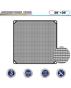 "Windscreen4less 36"" x 36"" Air Conditioner Cover 200GSM Black"