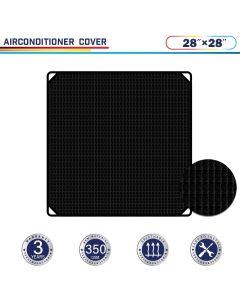 "Windscreen4less 28"" x 28"" Air Conditioner Cover 350GSM Black"