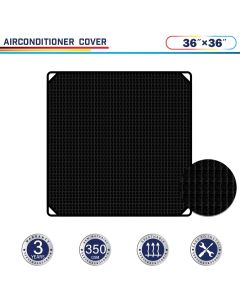 "Windscreen4less 36"" x 36"" Air Conditioner Cover 350GSM Black"