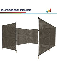 Windscreen4less Custom Size 4-6ft x 1-150ft Hollow Brown Garden Fence Mesh Netting Temporary Fencing Roll 165GSM for Backyard Rabbits Chickens Poultry Vegetable Dogs in color Orange w/3-Year Warranty