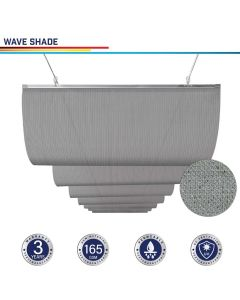 Windscreen4less Custom Retractable Canopy Replacement Cover for Pergola Slide On Wire Shade Cover Awning for Gazebo Trellis Hot Tub Top Cover Patio Deck Yard Porch Wave Shade 90% UV Blockage 7-7ft W x 1-40ft L Light Gray 165GSM (3 Year Warranty)