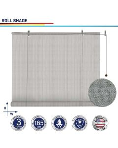 Windscreen4less Custom Exterior Roller Shade Blinds Outdoor Roll Up Shade with 90% UV Protection Privacy for Deck Backyard Gazebo Pergola Balcony Patio Porch Carport 4-8ft W x 5-15ft H Light Gray 165GSM (3 Year Warranty)