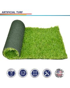 Windscreen4less Custom Size 1-6ft x 1-25ft Artificial Grass Turf Realistic Fake Grass Turf Synthetic Pet Turf, Outdoor/Indoor Fake Grass Rug Astroturf for Dogs with Drainage Holes, Pile Height:35mm