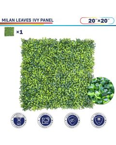 """Windscreen4less Artificial Faux Ivy Leaf Decorative Fence Screen 20"""" x 20"""" Milan Leaves 1pc"""