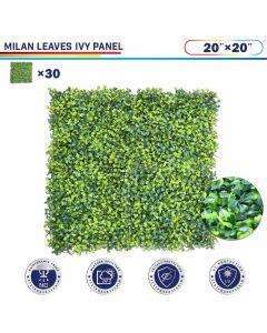 "Windscreen4less Artificial Faux Ivy Leaf Decorative Fence Screen 20"" x 20"" Milan Leaves 30pcs"