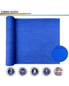 Windscreen4less Custom Size 24-24ft x 1-300ft Sunblock Shade Cloth, 90% UV Block Blue 160GSM Shade Fabric Roll (3 Year Warranty)