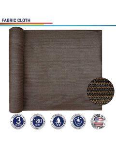 Windscreen4less Custom Size 6-24ft x 1-300ft Sunblock Shade Cloth, 90% UV Block Brown 160GSM Shade Fabric Roll (3 Year Warranty)