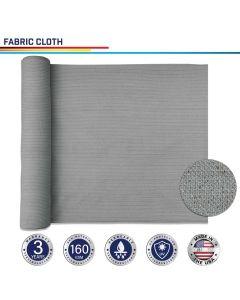 Windscreen4less Custom Size 6-24ft x 1-300ft Sunblock Shade Cloth, 90% UV Block Light Gray 160GSM Shade Fabric Roll (3 Year Warranty)