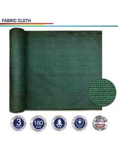 Windscreen4less Custom Size 6-24ft x 1-300ft Sunblock Shade Cloth, 90% UV Block Dark Green 160GSM Shade Fabric Roll (3 Year Warranty)