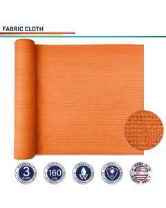 Windscreen4less Custom Size 16-24ft x 1-300ft Sunblock Shade Cloth, 90% UV Block Orange 160GSM Shade Fabric Roll (3 Year Warranty)