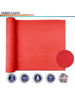 Windscreen4less Custom Size 24-24ft x 1-300ft Sunblock Shade Cloth, 90% UV Block Red 160GSM Shade Fabric Roll (3 Year Warranty)