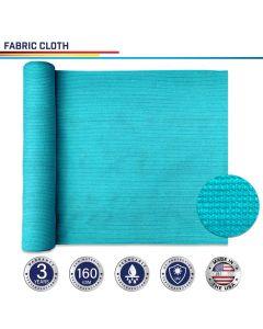 Windscreen4less Custom Size 6-24ft x 1-300ft Sunblock Shade Cloth, 90% UV Block Turquoise Green 160GSM Shade Fabric Roll (3 Year Warranty)