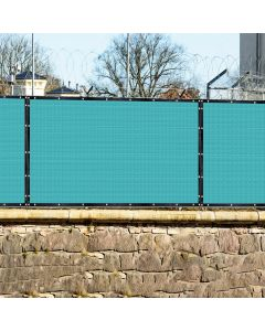 Real Scene Effect of Windscreen4less Custom Size 1-16ft x 1-160ft Heavy Duty Privacy Fence Screen in Color  Turquoise with Brass Grommet 95% Blockage Windscreen Outdoor Mesh Fencing Cover Netting 240GSM Fabric w/7-Year Warranty